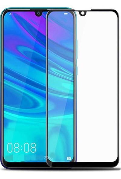 Microcase Huawei P Smart Plus 2019 Tam Kaplayan Çerçeveli Tempered Ekran Koruyucu - Siyah