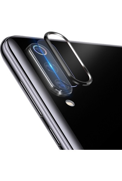 Ally Xiaomi Mi CC9/CC9E/Mi A3 Kamera Koruma Metal Lens + Cam Set AL-31010 Siyah