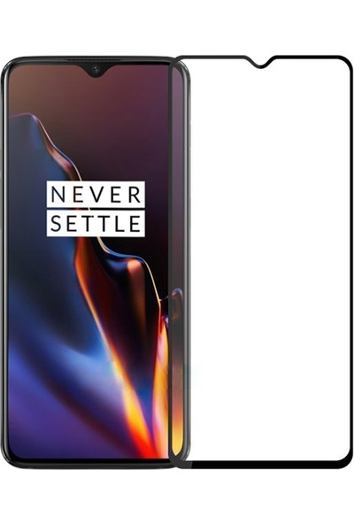 Ally OnePlus 7 3D Full Kaplama Tempered Cam Ekran Koruyucu AL-31015 Siyah