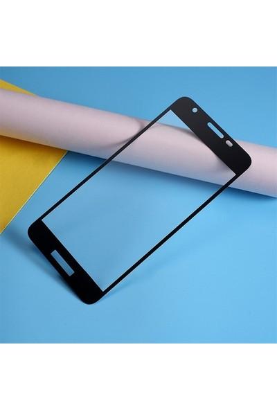 Ally Samsung Galaxy A2 Core 3D Full Cam Ekran Koruyucu AL-31039 Siyah