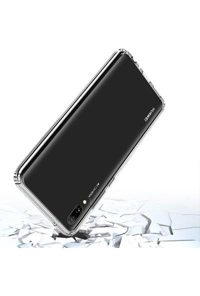 Ally Huawei Y7 Pro 2019 Anti-Drop Darbe Emici Silikon Kılıf AL-31021 Şeffaf