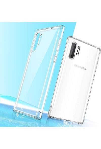 Ally Samsung Galaxy Note 10+ Plus Anti-Drop Darbe Emici Silikon Kılıf AL-31026 Şeffaf