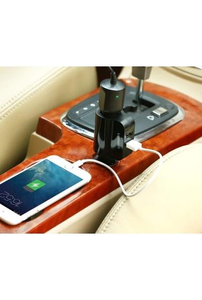 Ugreen 60W Çakmaklık Girişli 2 USB'li Araç İçi Şarj Cihazı