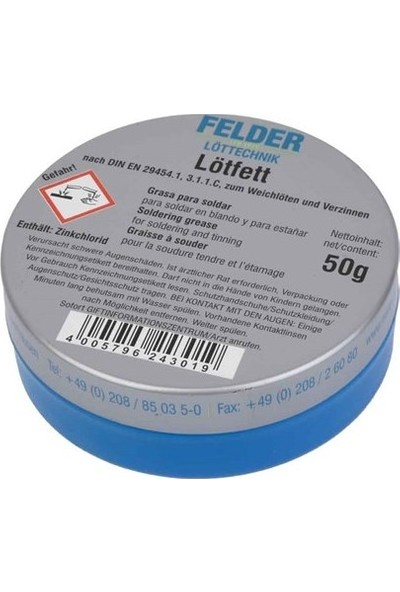 Felder Felder Lötfett Lehim Pastası