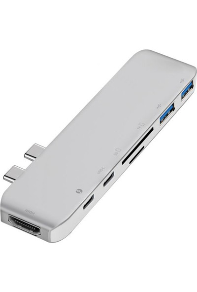 Daytona Macbook Uyumlu 7in1 Type-C Hd 4K Card Reader & Hub