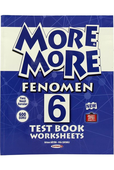 Kurmay Elt More And More 6. Sınıf Fenomen Test Book Worksheets