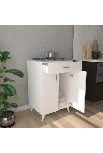 PlatinReyon Platin Set Altı Mutfak Dolabı Çok Amaçlı Dolap Beyaz