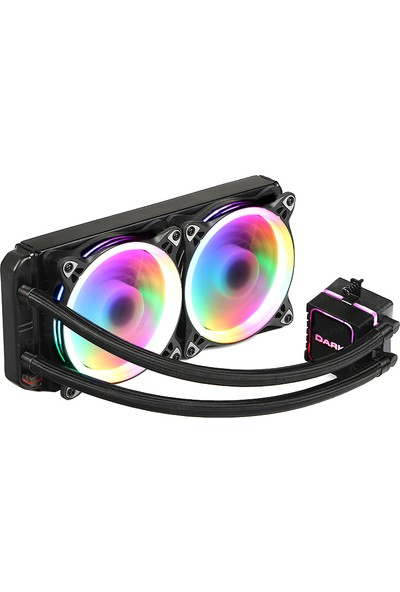 Dark AquaForce W244 2x12cm Çevresel Adreslenebilir RGB Fanlı Intel & AMD Uyumlu Sıvı Soğutma Sistemi (DKCCW244)