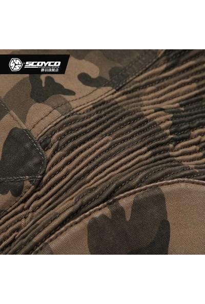 Scoyco 4 Mevsim Kamuflaj Motosiklet Pantolonu