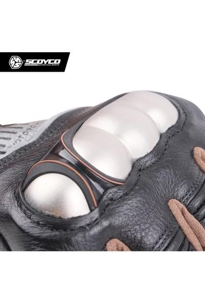 Scoyco Mc60 Kevlar -Deri Motosiklet Eldiven