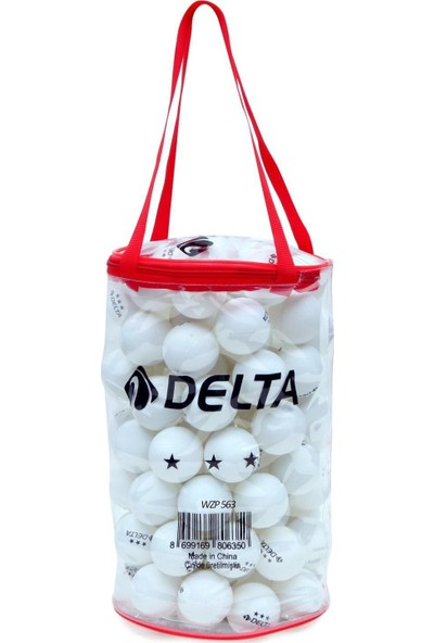 Delta 100 adet Masa Tenisi Topu (Pinpon Topu) - Fermuarlı Çantalı