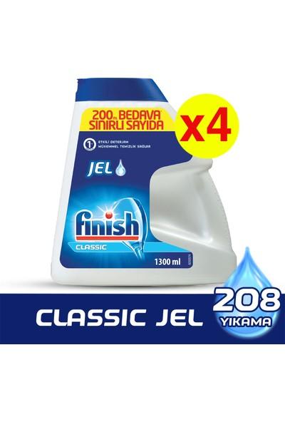 Finish Classic Jel 4x1300 ml Bulaşık Makinesi Deterjanı