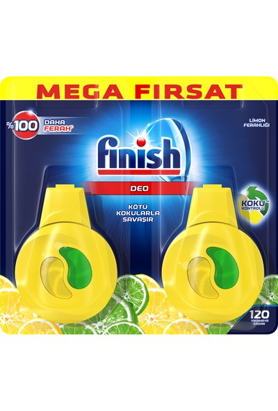 Finish Bulaşık Makinesi Kokusu Limon 2'li Paket