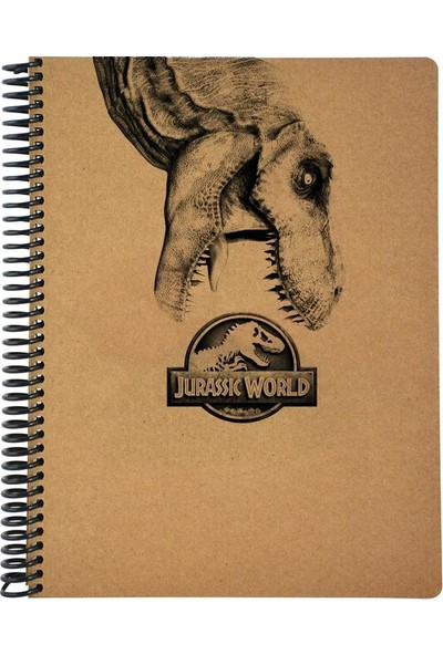 Mynote Jurassic World 19 x 26 A4 100 Yaprak Kraft Kareli Defter Desen 2