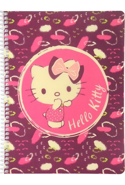 Mynote Hello Kitty Campus Plus 26 x 18,5 40 Yaprak Pp Kapak Çizgili Defter Desen 2