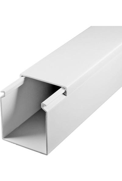 A Plus Elektrik 40x40 mm Beyaz 6x1m=6m Bantsız Kablo Kanalı