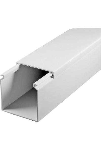 A Plus Elektrik 50x50 mm Beyaz 8x1,5m=12m Bantsız Kablo Kanalı