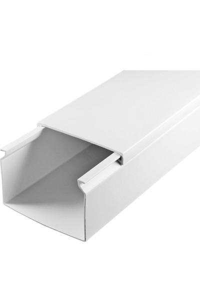 A Plus Elektrik 60x40 mm Beyaz 15x2m=30m Bantsız Kablo Kanalı