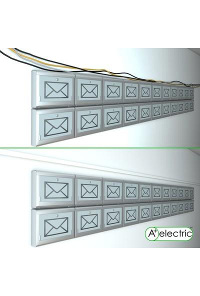 A Plus Elektrik 80x40 mm Güçlü Yapışkan Bantlı Beyaz 9x2m=18m Kablo Kanalı
