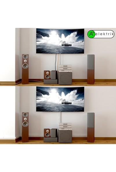 A Plus Elektrik 120x60 mm Beyaz 4x1,5m=6m Bantsız Kablo Kanalı