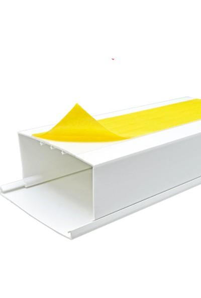A Plus Elektrik 120x60 mm Güçlü Yapışkan Bantlı Beyaz 4x1,5m=6m Kablo Kanalı