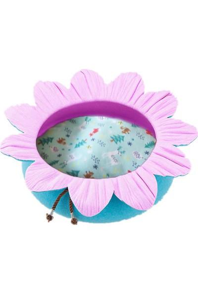 Pets Çiçek Şekilli Kedi Yatağı Turkuaz/Pembe Ø50 Cm