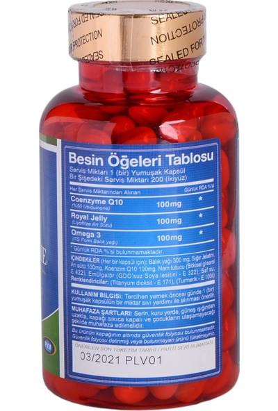 TruNature Coenzyme Q10 100 Mg + Royal Jelly 200 Mg 200 KAPSÜL