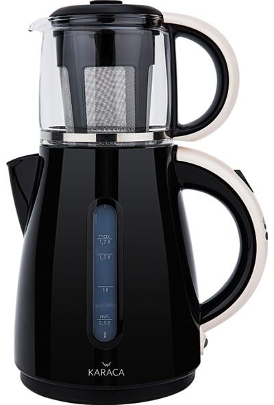 Karaca Çay Makinesi Kettle 1501 Cream Gold