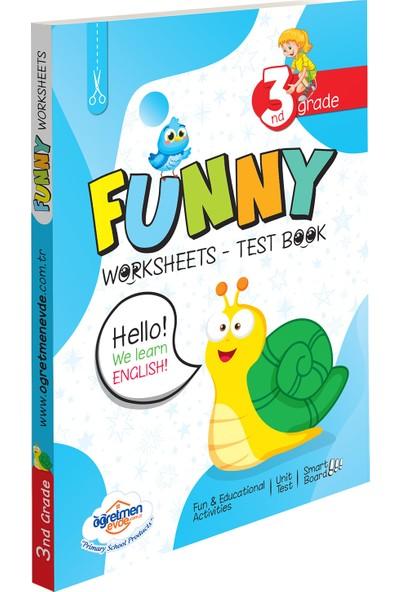 Öğretmen Evde 3. Sınıf İngilizce Funny Worksheets & Test Book