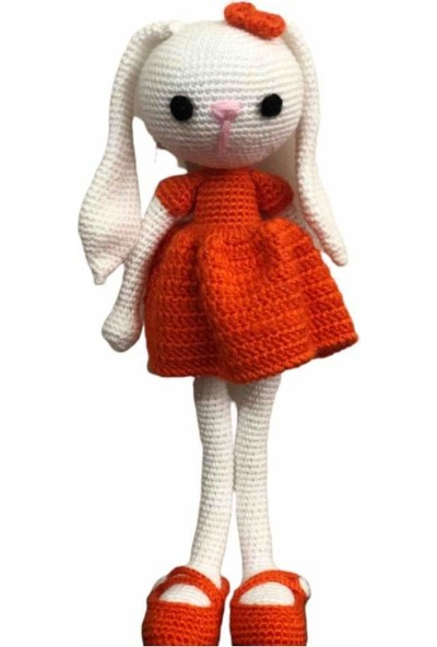 Sema Atölye Amigurumi Sevimli Turuncu Tavşan