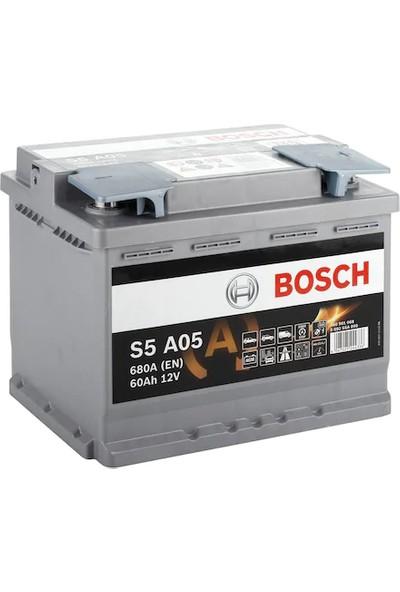 Bosch Akü 12V 60AH (Amper) Agm 640A S5 A05 Start-Stoplu Oto Aküsü