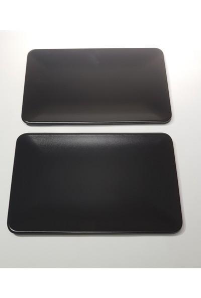 Keramika 2 Adet 31*21 cm Mat Siyah Kayık Servis Tabağı