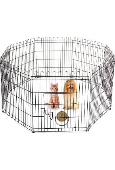 Best Cage Metal Kalın Telli 8 Parça Köpek Oyun Alanı Çit 70 x 69 cm 8 Parça