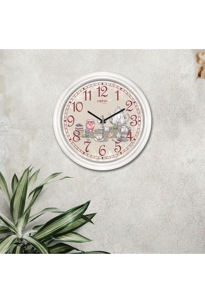Cadran Luxury Dekoratif Camlı Mutfak Duvar Saati CDX150