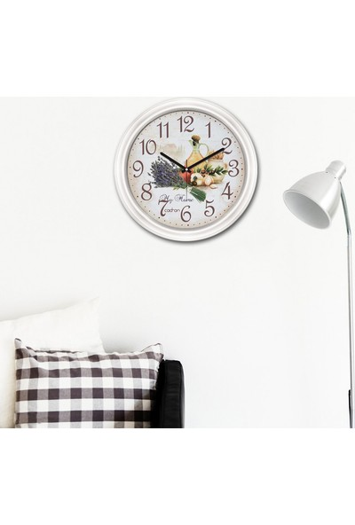 Cadran Fashion Clock Dekoratif Camlı Mutfak Duvar Saati