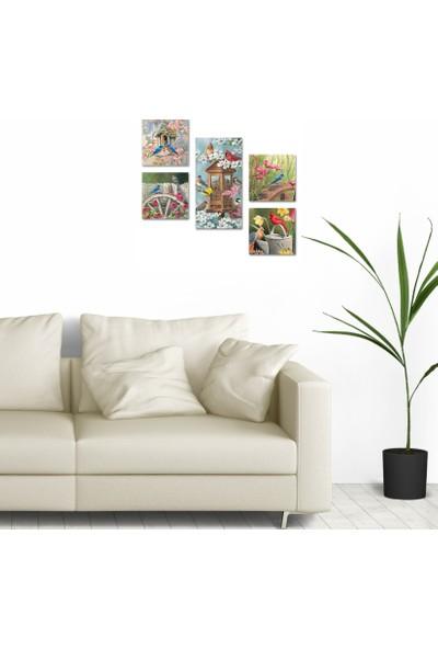 DecorLux Collage Style 5 Parçalı MDF Tablo ATF180