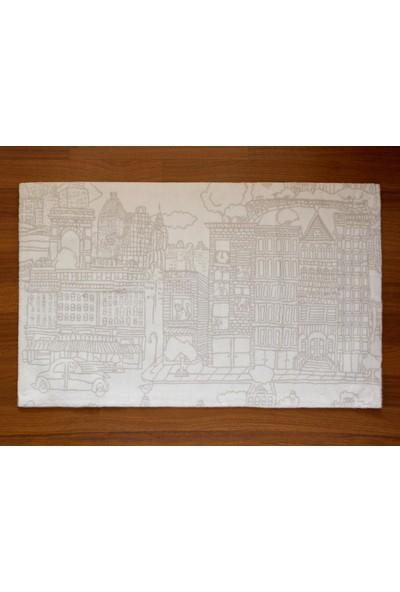 Shique Home 70 x 120 cm Pamuk Banyo Paspası - City Bej
