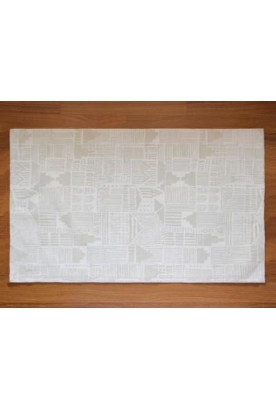 Shique Home 70 x 120 cm Pamuk Banyo Paspası - Tetris Yeşil