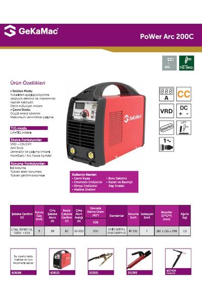 Gedik Kaynak GeKaMac Power ARC 200 C Selülozik MMA Inverter Kaynak Makinesi