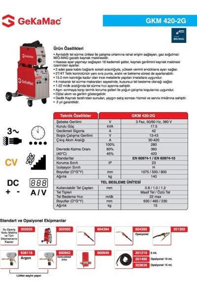 Gedik Kaynak GeKaMac GKM 420-2G Gazaltı Kaynak Makinesi