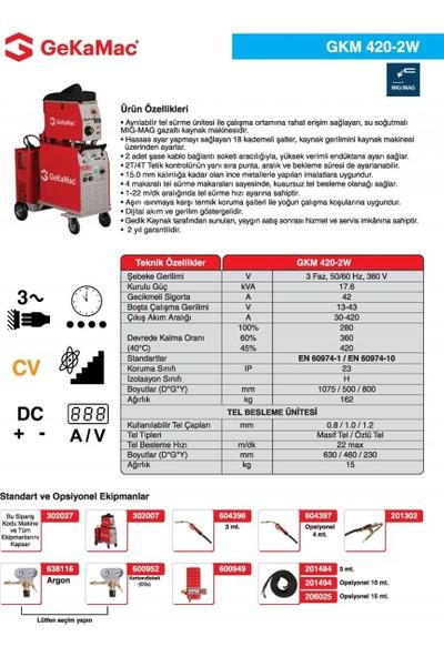 Gedik Kaynak GeKaMac GKM 420-2W Gazaltı Kaynak Makinesi