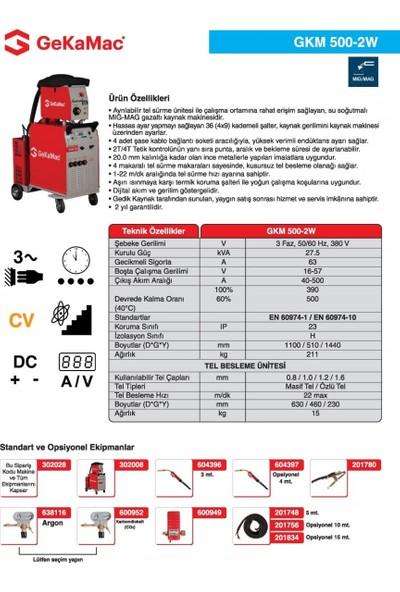 Gedik Kaynak GeKaMac GKM 500-2W Gazaltı Kaynak Makinesi