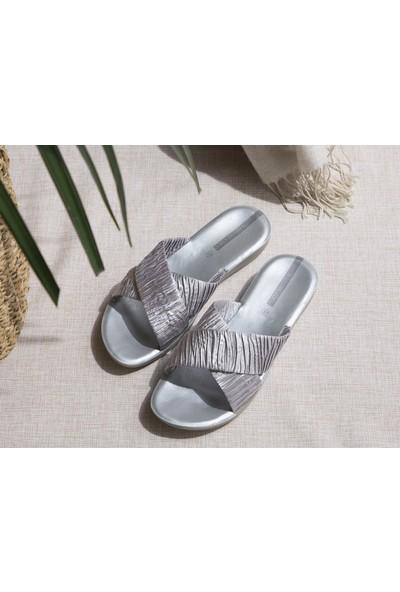 Madame Coco Eleanor Kadın Terlik - Silver