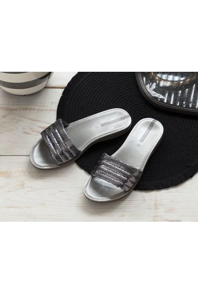 Madame Coco Perla Kadın Terlik - Silver
