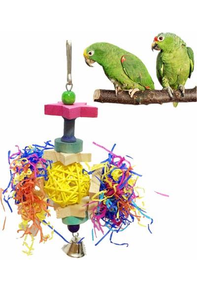 GOB2C Kuş Kafesine Asılabilen Zilli Çiğneme Oyuncağı