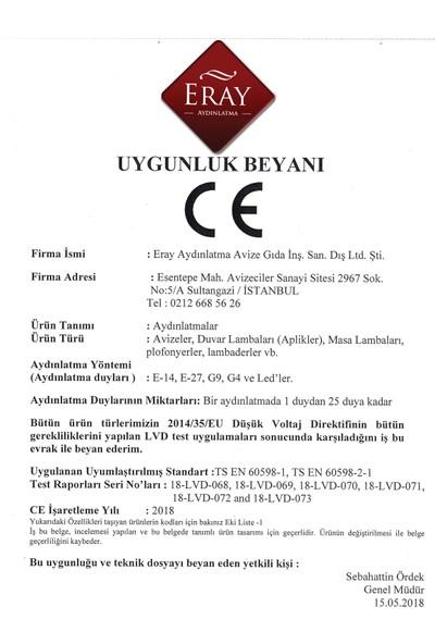 Eray Aydınlatma Ery 3729-14-01 Siyah-Bakır Piramit Tekli Avize
