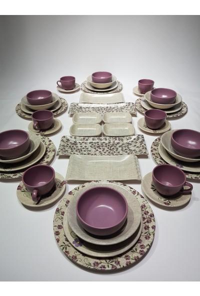 Keramika 44 Parça 6 Kişilik Kahvaltı Yemek Takımı Etamin