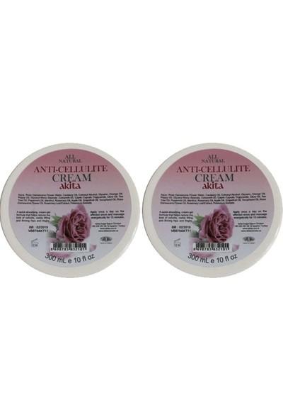 Akita % 100 Doğal Anti-Selülit Kremi 2X300ml