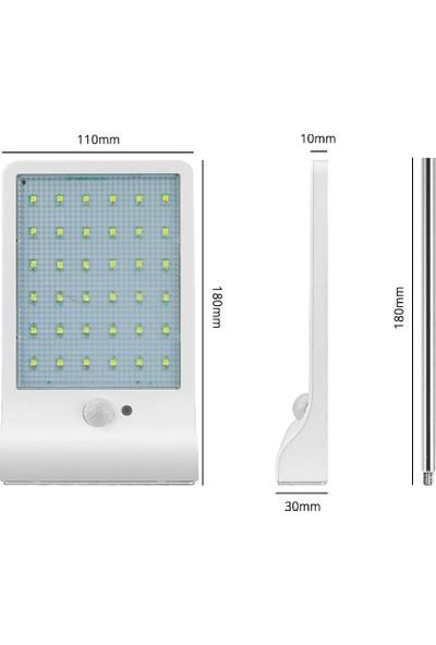 Twinix Güneş Enerjili Solar Aydınlatma 36 Ledli 3 Modlu Sokak Lambası Hareket Sensörü + Loş Aydınlatma + Sürekli Yanma Modu