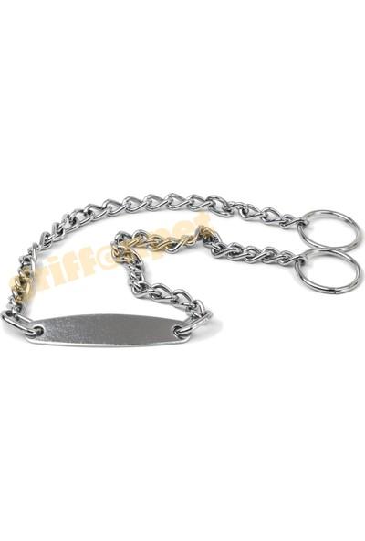Griffonpet Köpekler için İsimlikli Zincir Tasma 2,0 mm X 45 cm